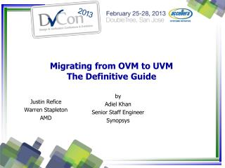 Migrating from OVM to UVM  The Definitive Guide