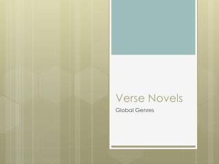 Verse Novels