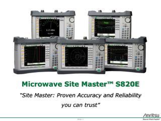 Microwave Site  Master™  S820E