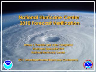 National Hurricane Center  2010 Forecast Verification