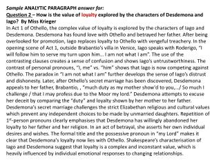 loyalty paragraph