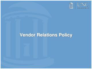 Vendor Relations Policy