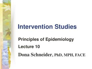 Intervention Studies