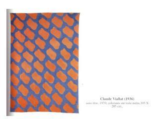 Claude Viallat (1936) sans titre , 1970, colorants sur toile métis,305 X 205 cm.,