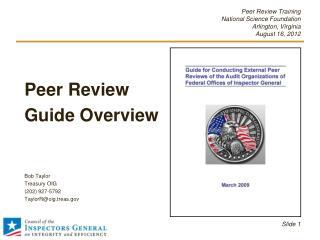 Peer Review Training National Science Foundation Arlington, Virginia   August 16, 2012