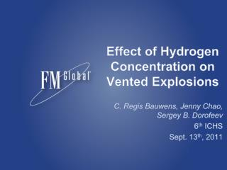 Effect of Hydrogen Concentration on Vented Explosions
