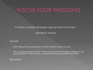 FOCUS YOUR THOUGHTS