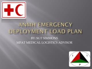 ANMH EMERGENCY DEPLOYMENT LOAD PLAN