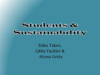 Students & Sustainability