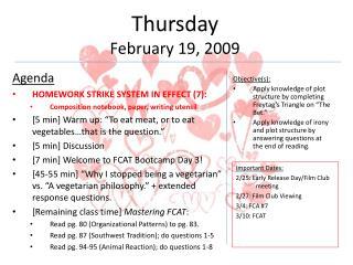 Thursday February  19,  2009