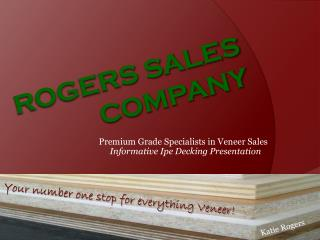 ROGERS SALES COMPANY