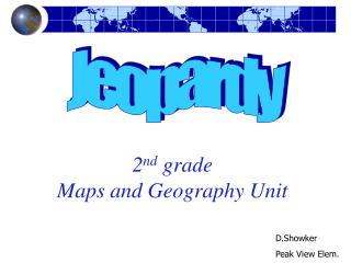 2nd grade Maps and Geography Unit