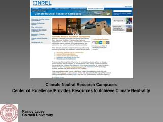 Climate Neutral Research Campuses
