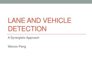 Lane and Vehicle Detection