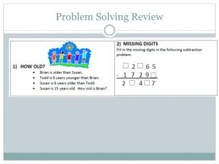 Problem Solving Review