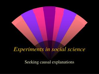 Experiments in social science
