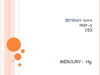 Setenay kaya prep-d 153