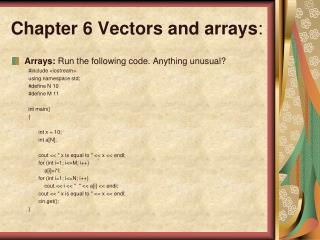 Chapter 6 Vectors and arrays :
