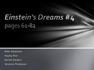 Einstein's Dreams  #4 pages 61-82