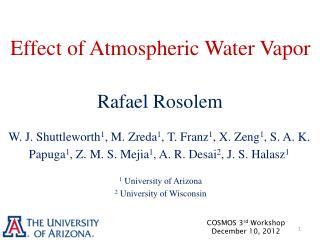 Effect of Atmospheric Water Vapor