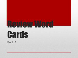 Review Word Cards