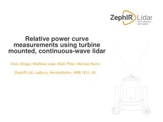 Relative power curve measurements using turbine mounted, continuous-wave lidar