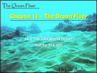 Chapter 14 – The Ocean Floor