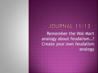 Journal 11/13