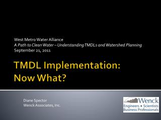 TMDL Implementation: Now What?