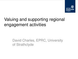 Valuing and supporting regional engagement activities