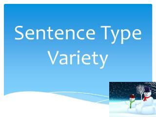 Sentence Type Variety