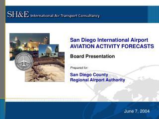 San Diego International Airport AVIATION ACTIVITY FORECASTS