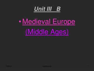 Unit III   B