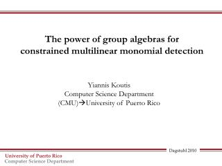 The power of group algebras for     constrained  multilinear  monomial detection