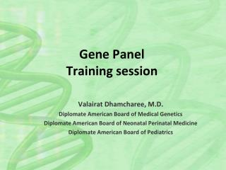 Gene Panel Training session