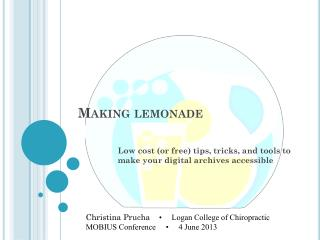 Making lemonade