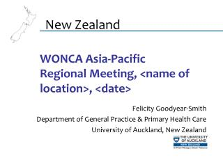 WONCA Asia-Pacific Regional Meeting, <name of location>, <date>