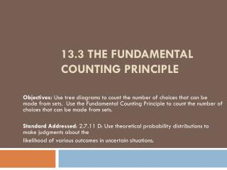 13.3 The Fundamental Counting Principle
