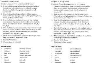 Chapter 5:  Study Guide Directions:  Answer these questions on binder paper.