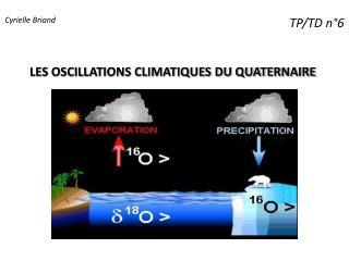 LES OSCILLATIONS CLIMATIQUES DU QUATERNAIRE