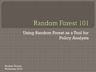 Random Forest 101
