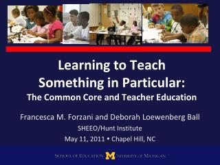 Learning to Teach  Something in Particular:  The Common Core and Teacher Education