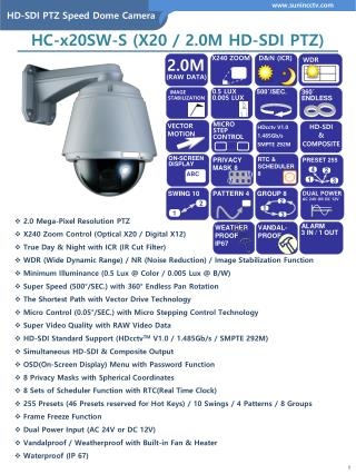 HD-SDI PTZ Speed Dome Camera