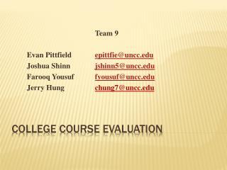 College Course Evaluation