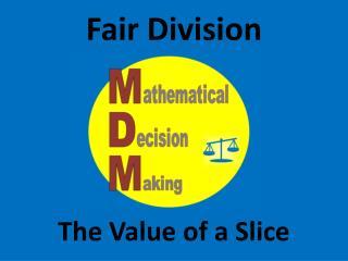 Fair Division