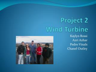 Project 2 Wind Turbine