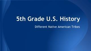 5th Grade U.S. History