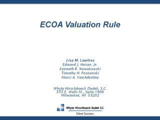 ECOA Valuation Rule