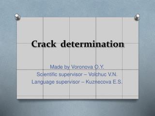 Crack  determination