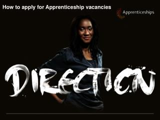 How to apply for Apprenticeship vacancies